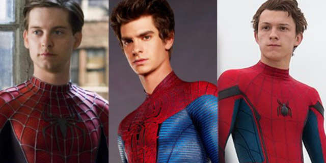 Spider-man Tobey Maguire Andrew Garfield Tom Holland