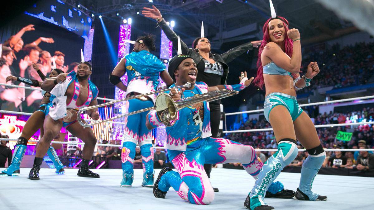 WWE-Sasha-Banks-The-New-Day-Blue