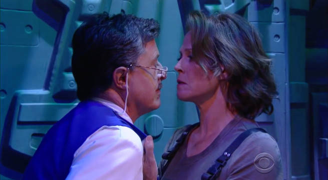 Watch Sigourney Weaver Return As Ripley For Stephen Colbert's Alien Sketch