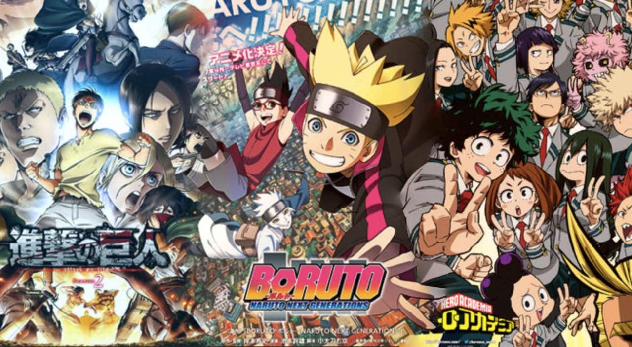 Anime show down attack on titan my hero academia boruto naruto next generations