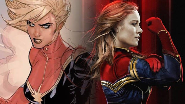 'Captain Marvel' First Look: See Brie Larson in Costume as Marvel Superhero