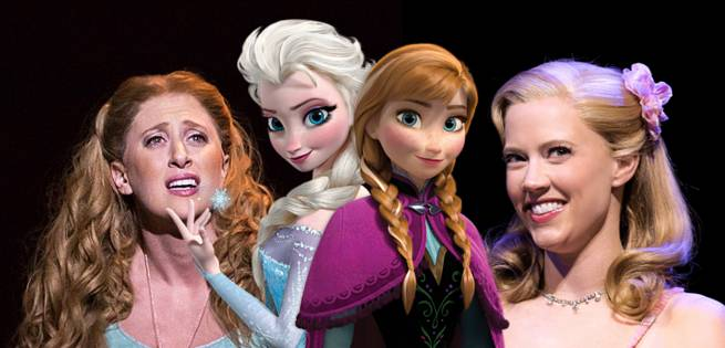 Frozen Musical Casts Elsa And Anna