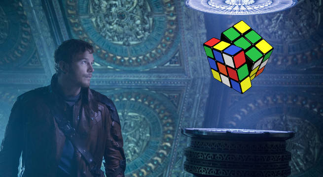 guardians of the galaxy vol 2 chris pratt star lord rubiks cube