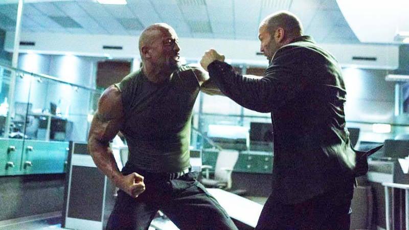 Jason Statham vs Dwayne Johnson Deleted Scene Fast Furious 8