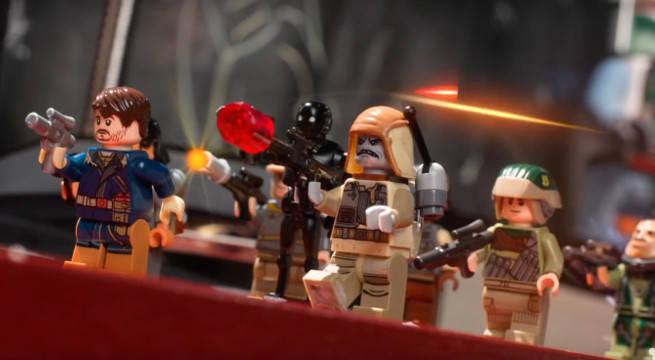 rogue one star wars recreated lego disney