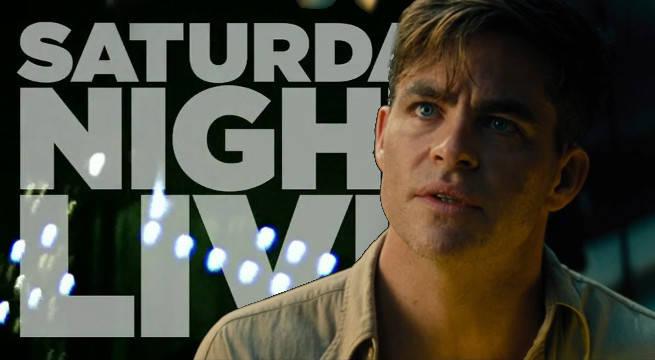 saturday night live chris pine host wonder woman movie