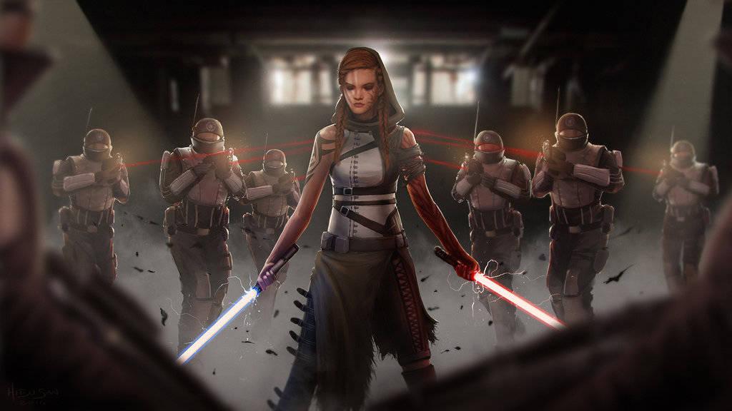 Star Wars Gray Jedi by hitsu-d7ja14c