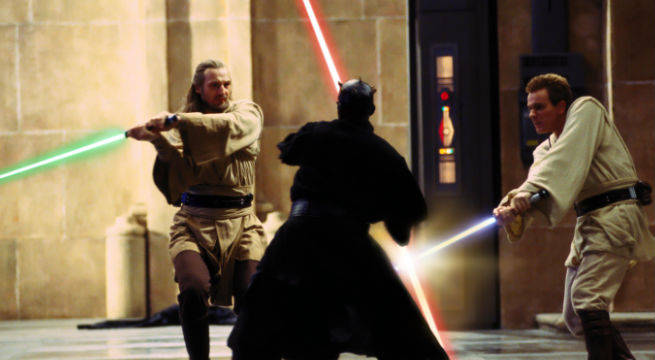 star wars phantom menace final duel