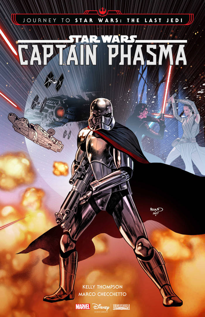 star wars the last jedi marvel comic captain-phasma-1-cover