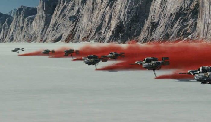 star wars the last jedi teaser trailer new ships speeders 1