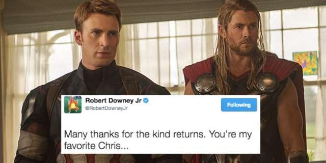 Robert Downey Jr. Is Trying To Start A Chris Civil War