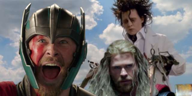 Edward Scissorhands Cuts Thors Hair In Ragnarok Deleted Scene