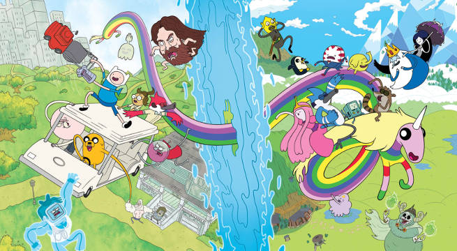 Do It Yourself Home Design: Adventure Time And Regular Show Crossover Comic Announced