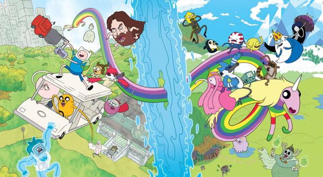 Adventure Time Regular Show Crossover Comic Header