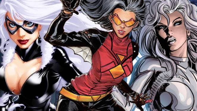 BLACK CAT SILVER SABLE SPIDER WOMAN