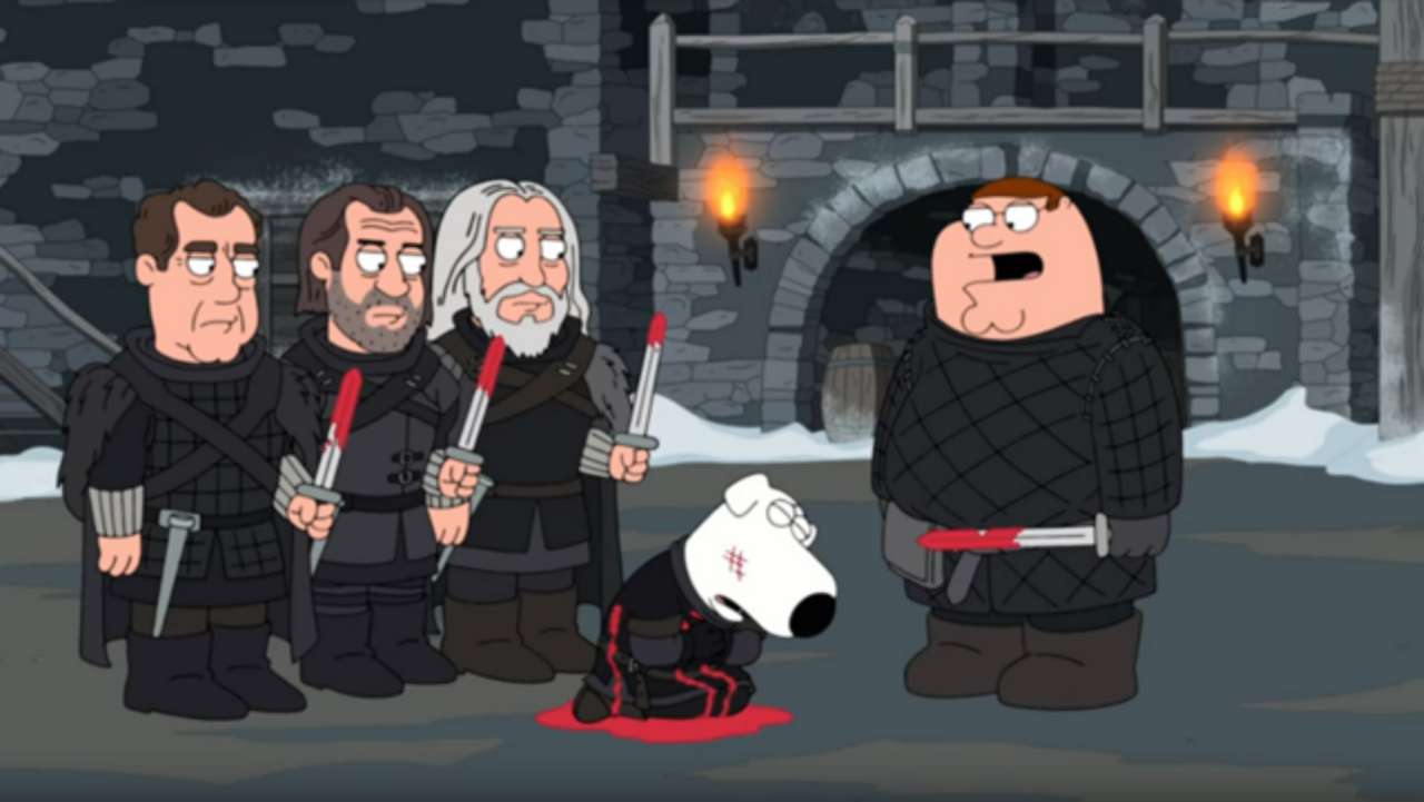 Family Guy Takes A Stab At Game Of Thrones The Rocks Ballers