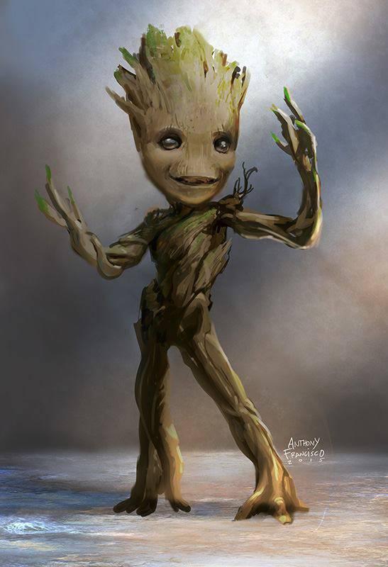 Tween Groot Leaner Baby Groot Concept Art For Guardians