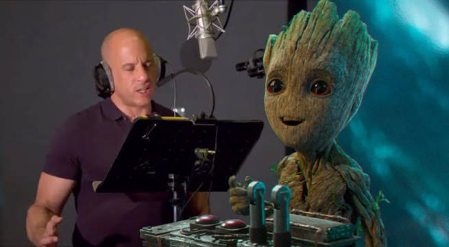 guardians of the galaxy vol 2 vin diesel baby groot voice secret