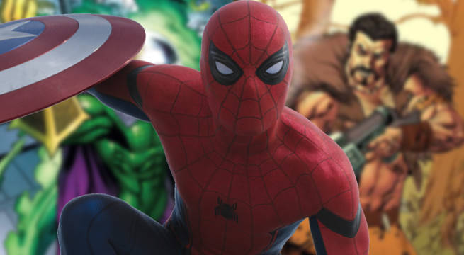 spider-man homecoming tom holland new villains sequel