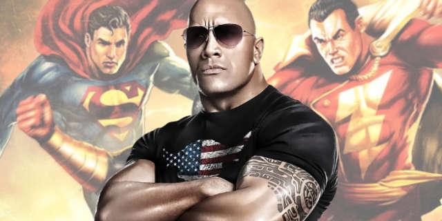 The Rock Black Adam Justice League