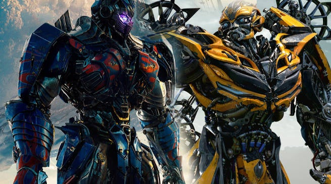 Transformers 5 Optimus Prime Bumblebee Merged Body
