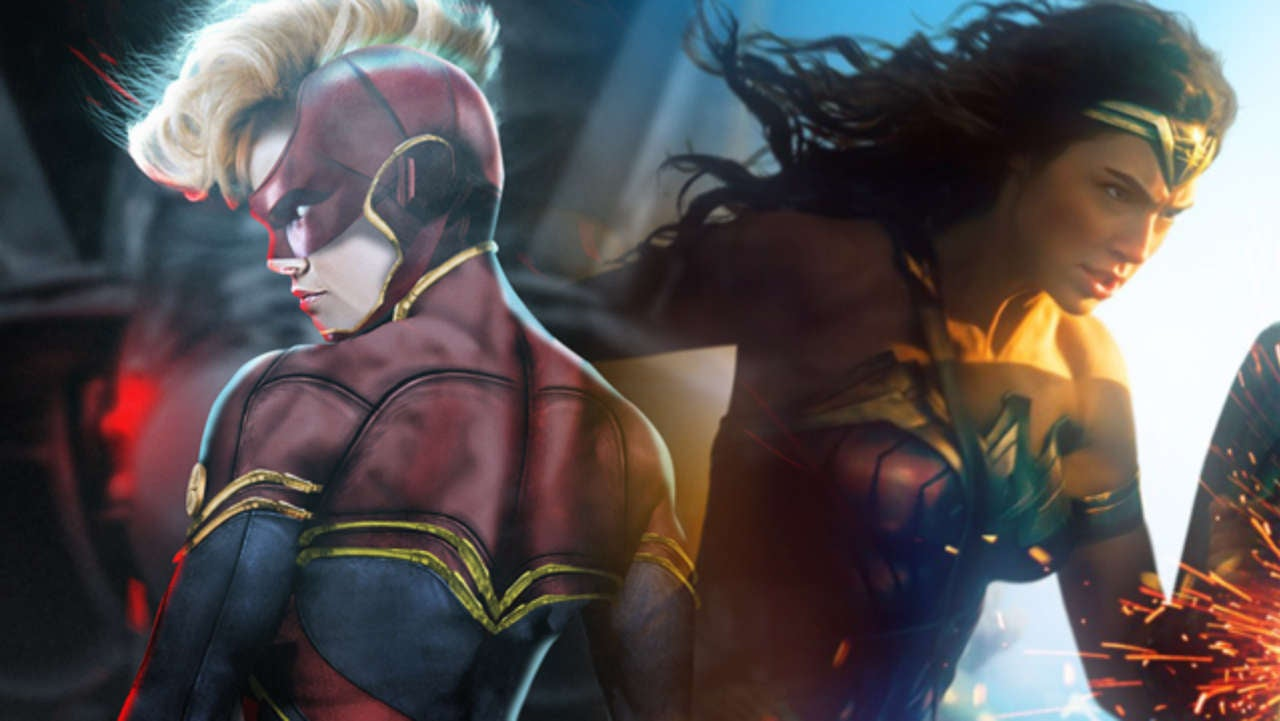 super fight: wonder woman vs captain marvel