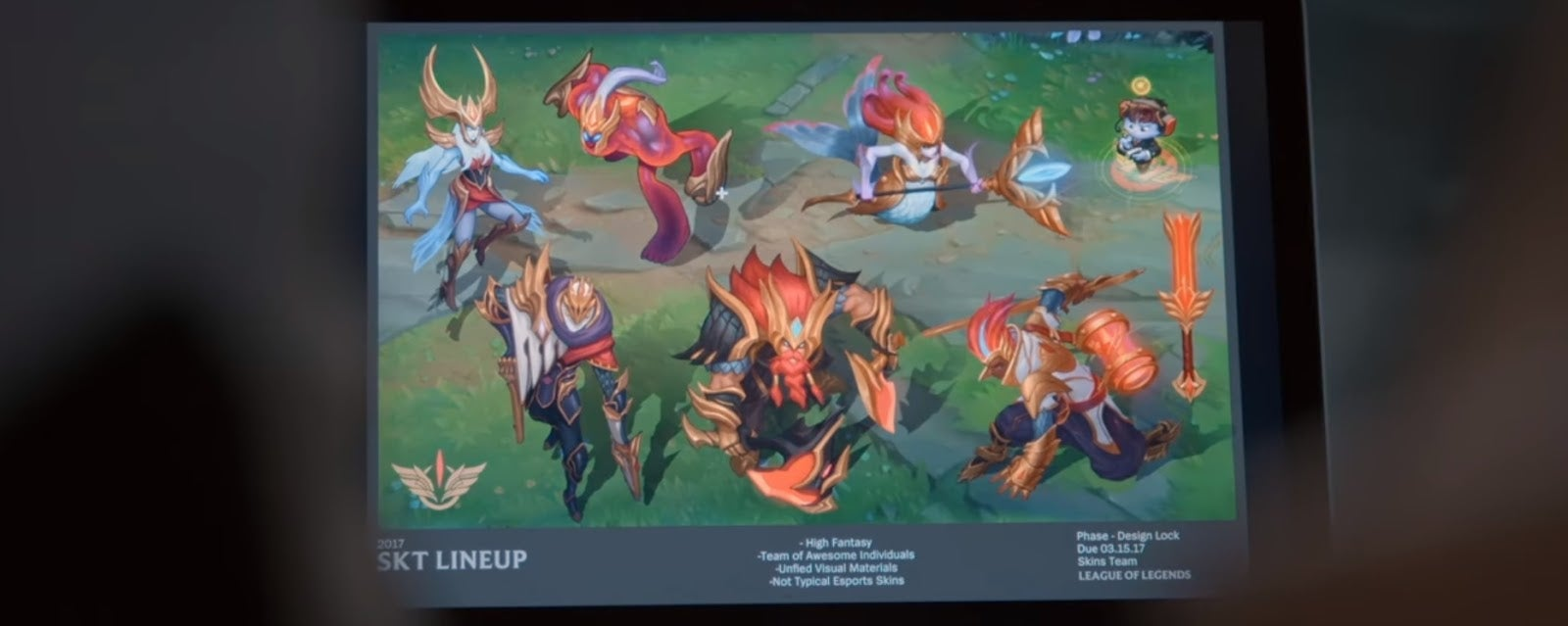 League Of Legends Riot Reveals First Look At New Skt T1 Skins