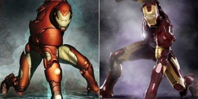 Avengers Comics vs Movie Costumes - Iron Man