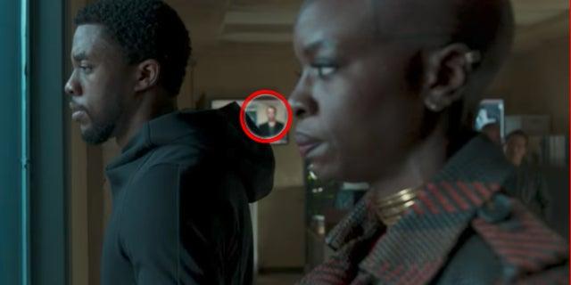 Black Panther Movie Trailer Captain America Easter Egg Teaser