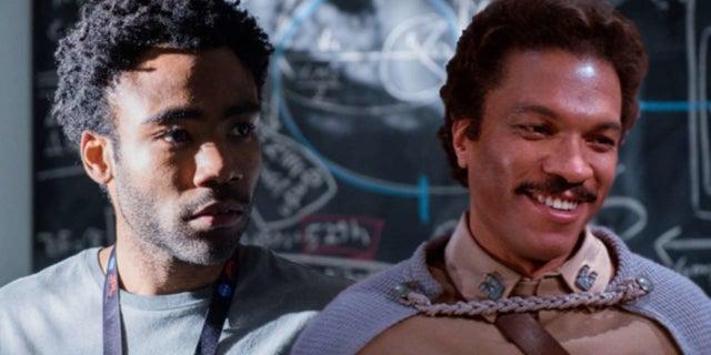 donald glover lando calrissian mustache star wars han solo movie