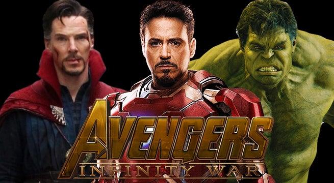 infinity war iron man strange hulk