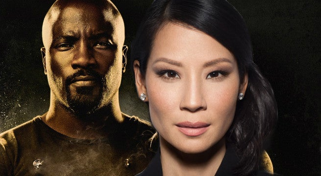 lucy liu spotted on set of luke cage season 2