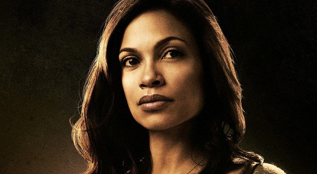 rosario dawson spotted on set for luke cage season 2