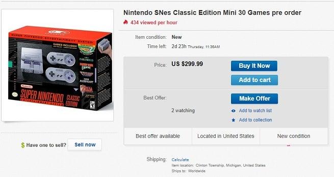 SNES ebay