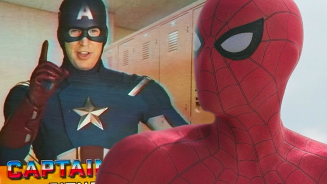 spider man hoecoming captain america