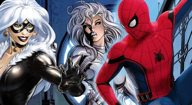spider man silver and black