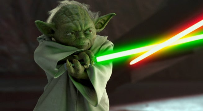 what happened to yodas lightsaber after revenge of the sith