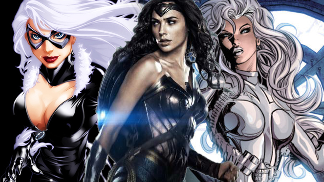 wonder woman black cat silver sable