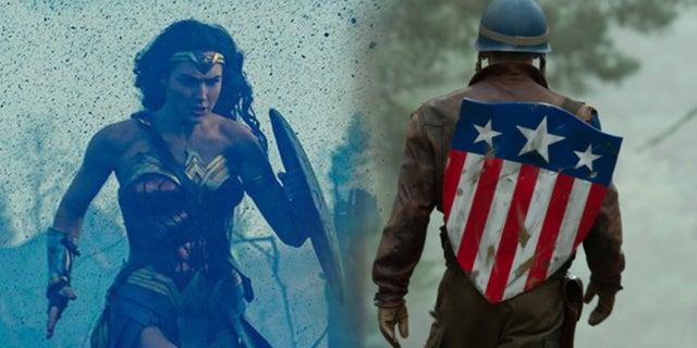 Wonder Woman Captain America First Avenger War Scenes