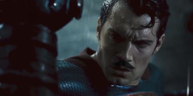 Batman v Superman Moustache Edition