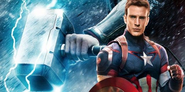 Captain America Using Mjolnir Comics