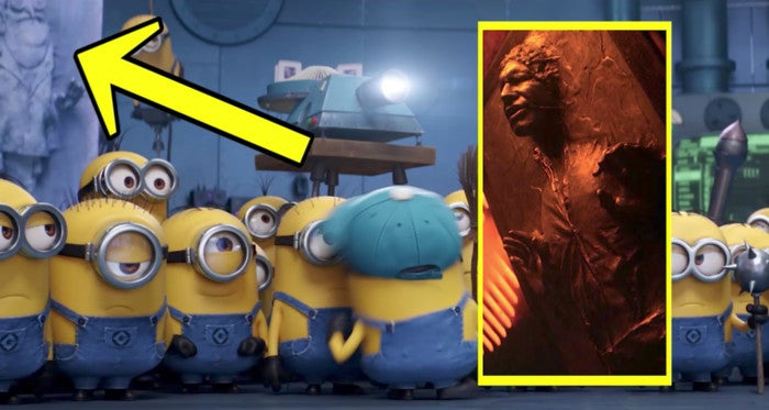 Despicable Me 3 Easter Egg Han Solo Carbonite Empire Strikes Back