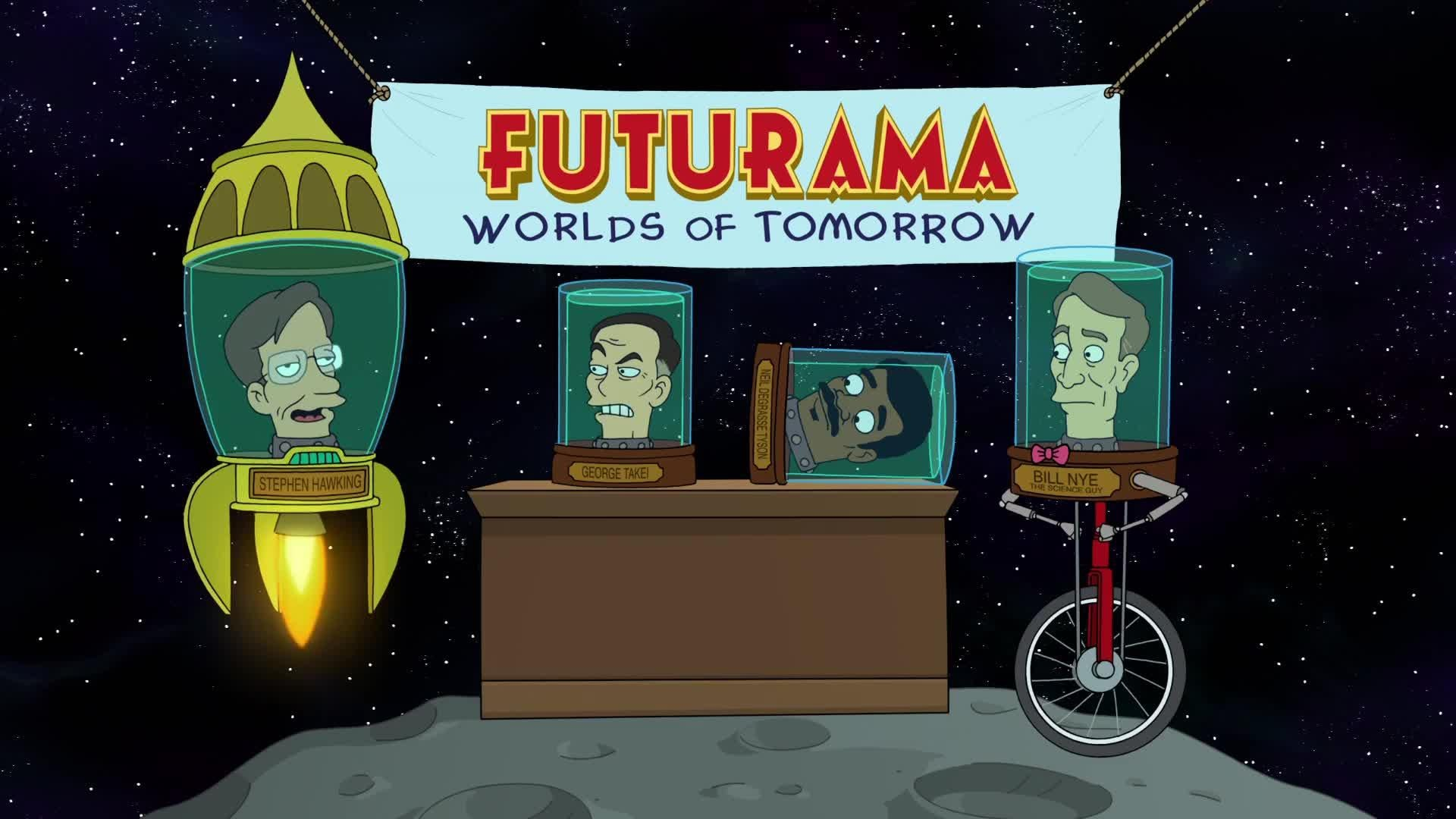 Futurama Worlds of Tomorrow - Official Launch Date Trailer - Science Heads Futurama Worlds of Tomorrow - Official Launch Date Trailer - Science Heads Futurama Worlds of Tomorrow - Official Launch Date Trailer - Science Heads screen capture