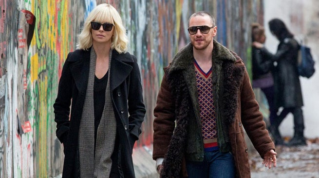 James McAvoy and Charlize Theron in Atomic Blonde