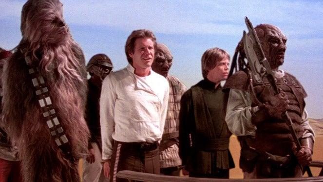 return of the jedi han solo chewbacca luke