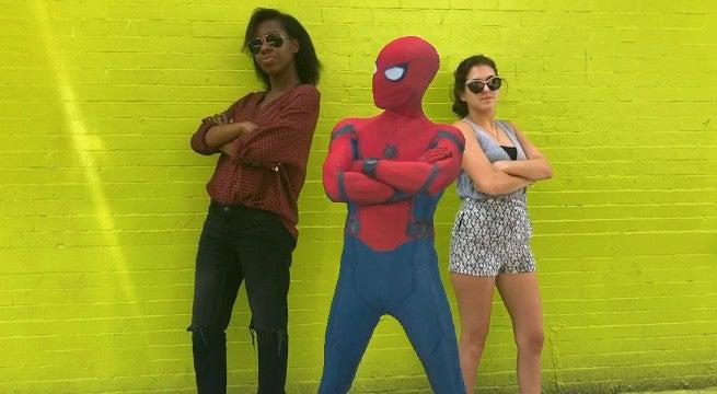 spider-man homcoming holo app selfies