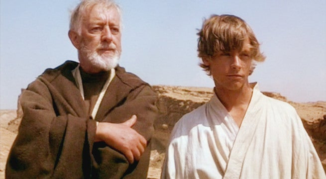 star wars alec guinness slaps mark hamill obi-wan kenobi luke skywalker