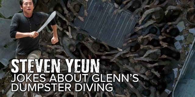 Steven Yeun Jokes About Glenn's Dumpster Dive On The Walking Dead screen capture