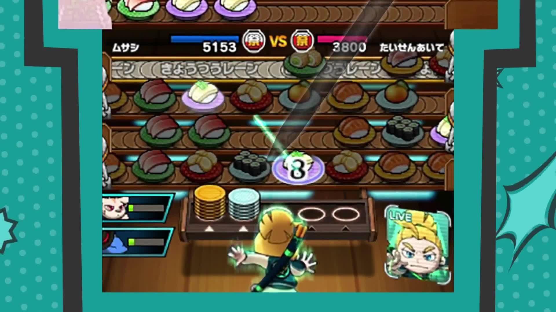 Sushi Striker The Way of Sushido - Official Game Trailer screen capture
