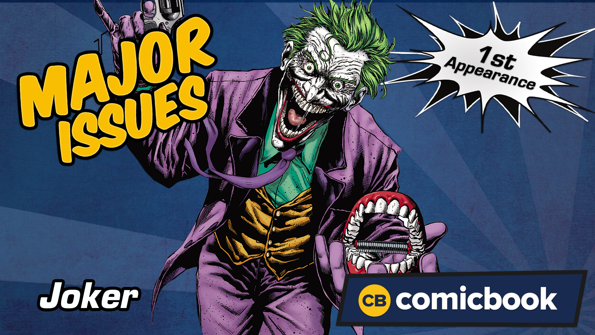 The Joker's First Appearance - Major Issues screen capture